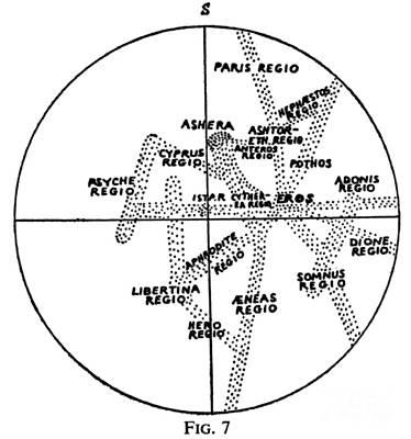 Percival Lowell Venus Map, 1897 Poster