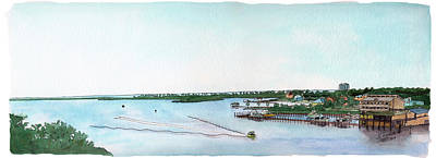 Poster featuring the painting Perdido Key Bay by Betsy Hackett