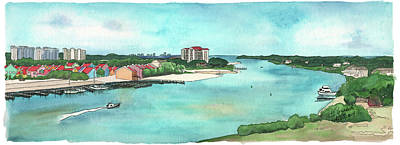 Poster featuring the painting Perdido Key River by Betsy Hackett