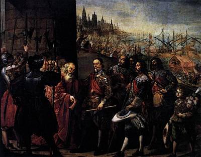 Pereda Antonio De The Relief Of Genoa Poster