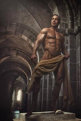 Perfect Male Statue Poster