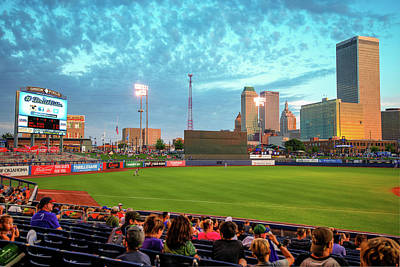 Poster featuring the photograph Oneok Stadium - Tulsa Drillers Stadium View by Gregory Ballos