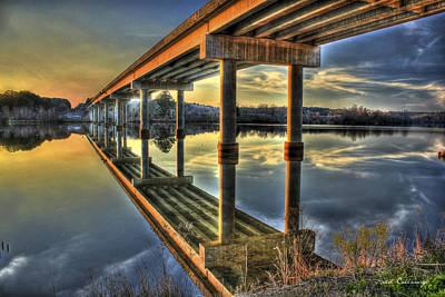 Perfect Reflection Bridges Of Georgia Poster by Reid Callaway