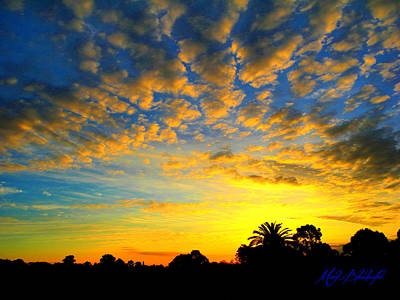 Poster featuring the digital art Perfect Sunset by Mark Blauhoefer