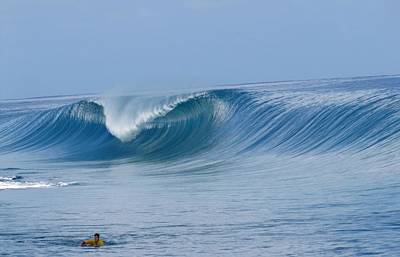 Perfect Wave Teahupoo Poster by Danny Aab