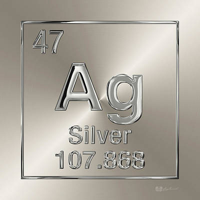Periodic Table Of Elements - Silver - Ag Poster