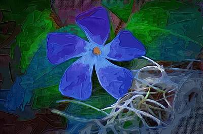Poster featuring the digital art Periwinkle Blue by Donna Bentley