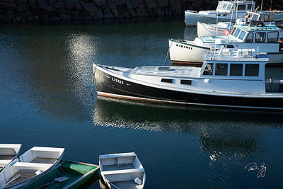 Perkins Cove Lobster Boats One Poster