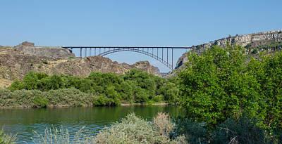 Perrine Bridge At Twin Falls Poster