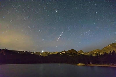 Poster featuring the photograph Perseid Meteor Shower Indian Peaks by James BO Insogna