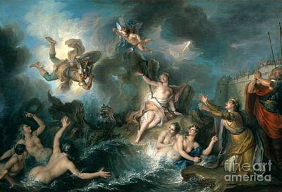 Perseus Rescuing Andromeda Poster by Charles Antoine Coypel