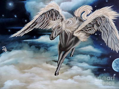 Perseus The Pegasus Poster by Dianna Lewis
