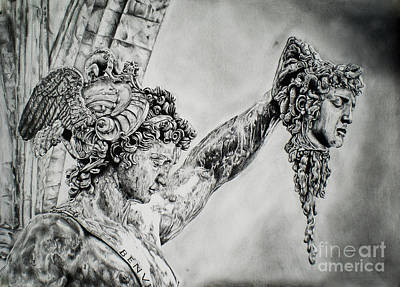 Perseus With The Head Of Medusa Poster