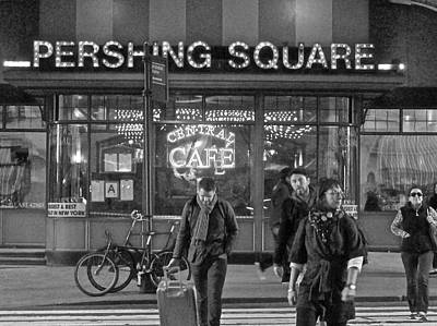 Pershing Square Monochrome Poster by Steven Lapkin
