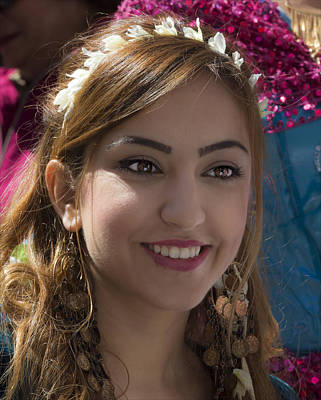 Persian Day Parade Nyc 4_17_16 Young Woman Poster by Robert Ullmann