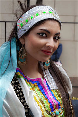Persian Day Parade Nyc 2017 Persian Woman In Traditional Dress Poster