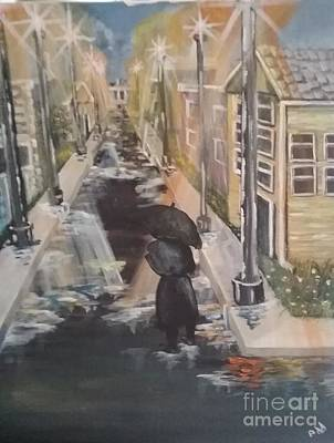 Poster featuring the painting Persistence by Saundra Johnson