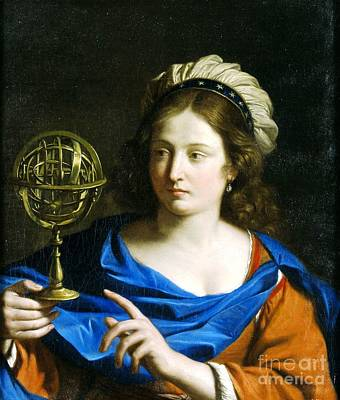Poster featuring the painting Personification Of Astrology by Pg Reproductions