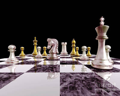 Perspective - Chess Art Poster by Lori Lejeune