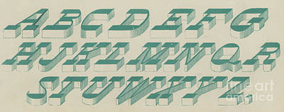 Perspective Italic Font Poster by English School