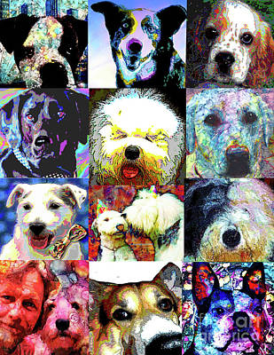 Pet Portraits Poster by Alene Sirott-Cope