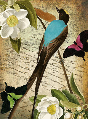 Petals And Wings II Poster by Mindy Sommers
