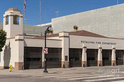 Petaluma Fire Department In Petaluma California Usa Dsc3844 Poster by Wingsdomain Art and Photography