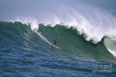 Pete On A Perfect Day At Mavericks Poster by Stan and Anne Foster