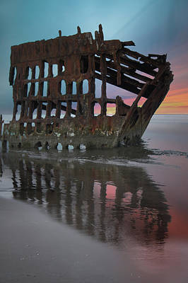 Peter Iredale Shipwreck At Sunrise Poster