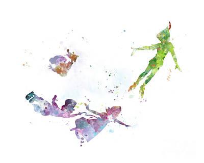 Peter Pan Poster by Monn Print