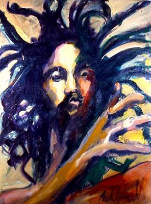 Poster featuring the painting Peter Tosh by Les Leffingwell