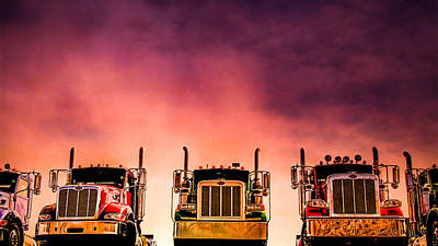 Poster featuring the photograph Peterbilt  Landscape by Bob Orsillo