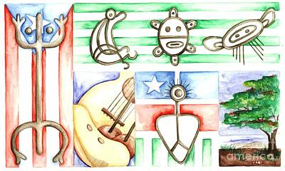 Petroglifos II Poster by Betzaida Irizarry