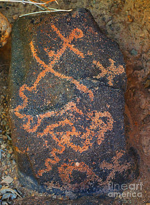 Poster featuring the photograph Petroglyph Tucson Arizona by Donna Greene