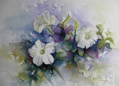 Petunias In Summer Poster