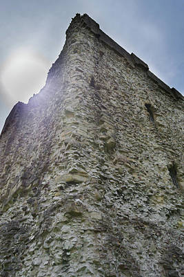 Poster featuring the photograph Peveril Castle Looking Up by Scott Lyons