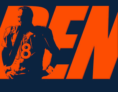 Peyton Manning City Name Poster by Joe Hamilton