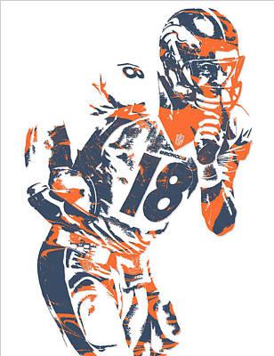 Peyton Manning Denver Broncos Pixel Art 6 Poster