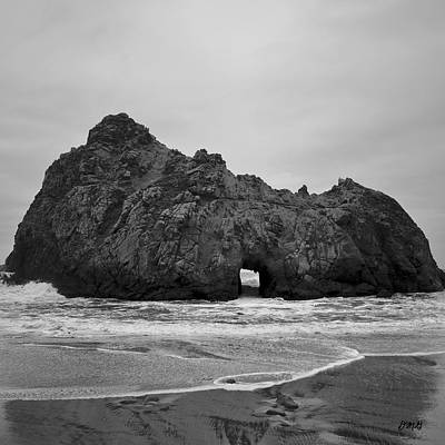 Pfeiffer Beach II Bw Poster