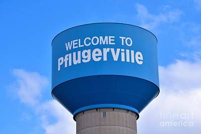 Pflugerville Texas - Water Tower Poster
