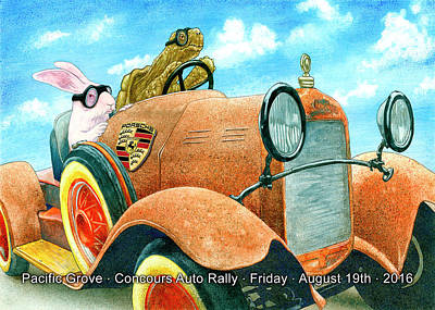Poster featuring the painting Pg Auto Rally by Will Bullas