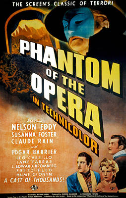 Phantom Of The Opera, Claude Rains Poster