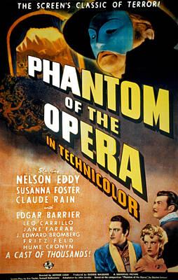 Phantom Of The Opera, Claude Rains Poster by Everett