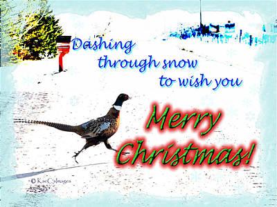 Pheasant Greeting Poster