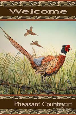 Pheasant-jp2805 Poster by Jean Plout