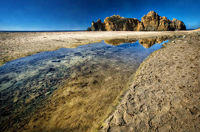 Poster featuring the photograph Pheiffer Beach- Keyhole Rock #19 - Big Sur, Ca by Jennifer Rondinelli Reilly - Fine Art Photography