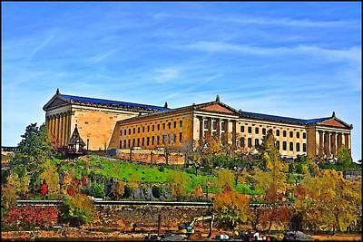 Philadelphia Art Museum From West River Drive. Poster by Bill Cannon