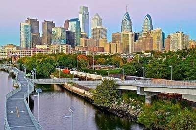 Philadelphia At Dusk Poster