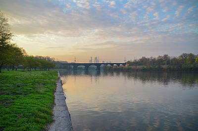 Poster featuring the photograph Philadelphia Cityscape From The Schuylkill In The Morning by Bill Cannon