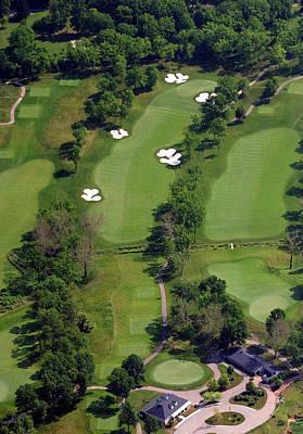 Philadelphia Cricket Club Militia Hill Golf Course 1st Hole Poster by Duncan Pearson